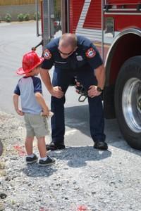 fireman with boy