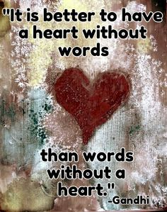 heart words gandhi