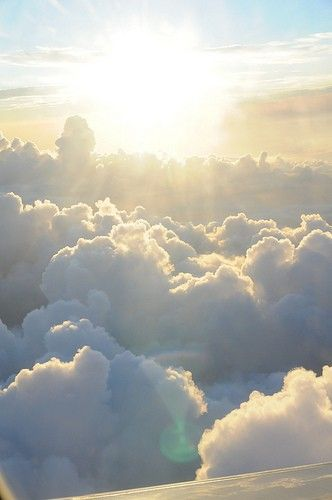 Sun above Clouds https://www.pinterest.com/pin/217932069438135718/
