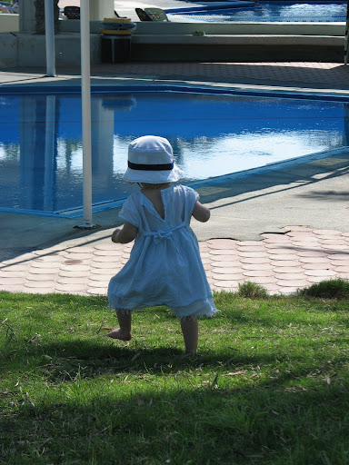 alma sees pool