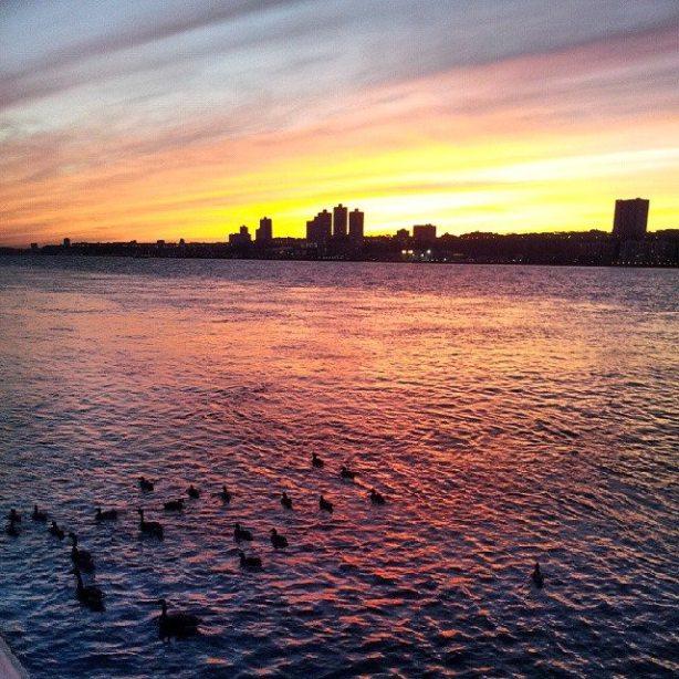 sunset on river Inbar Asif