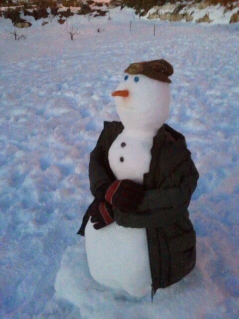 contemplative snowman TzurGedalyaMoriah