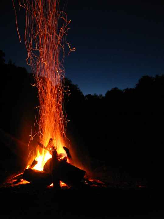 blaze bonfire campfire dark